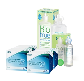 4 KUTU PUREVISION 2HD + BIO TRUE 300 + 120 ML